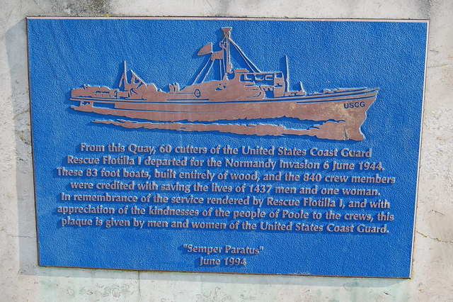 Plaque on the quayside, Poole, Dorset