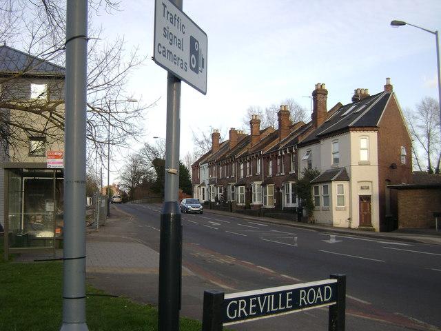 The end of Emscote Road, Warwick
