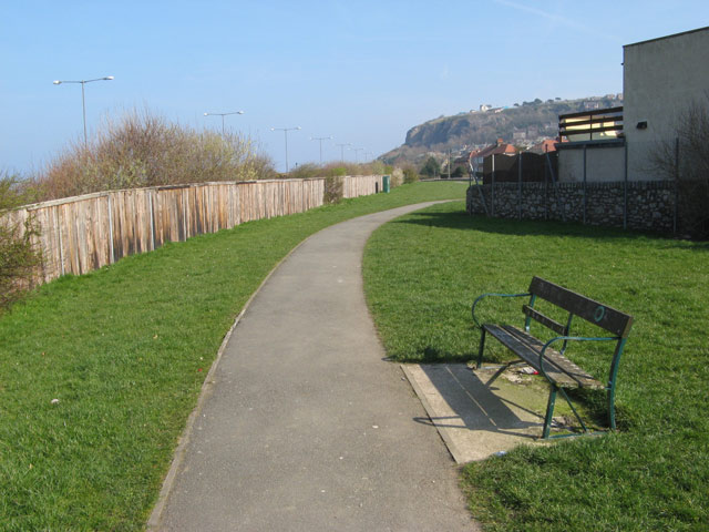 Footpath with bench