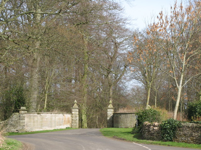 The entrance to Walwick Grange