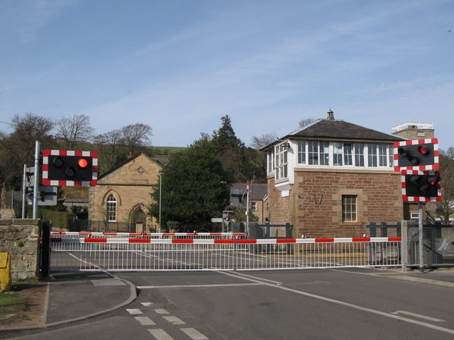 The new level crossing barriers at Haydon Bridge Station (2)