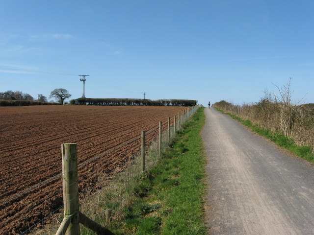 Cycle track and ploughed field