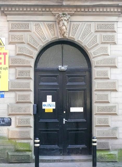 Doorway to Shaw Lane Mills, Halifax