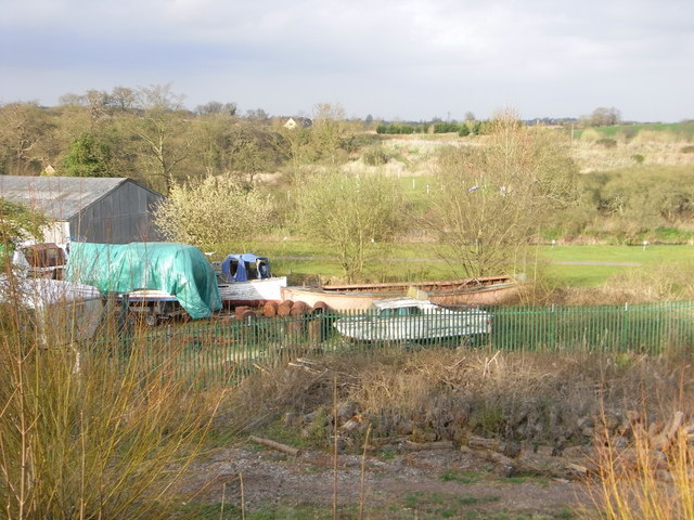 George Judge's boat yard, Hawford.