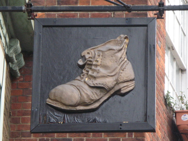 Sign for The Boot, Cromer Street, WC1