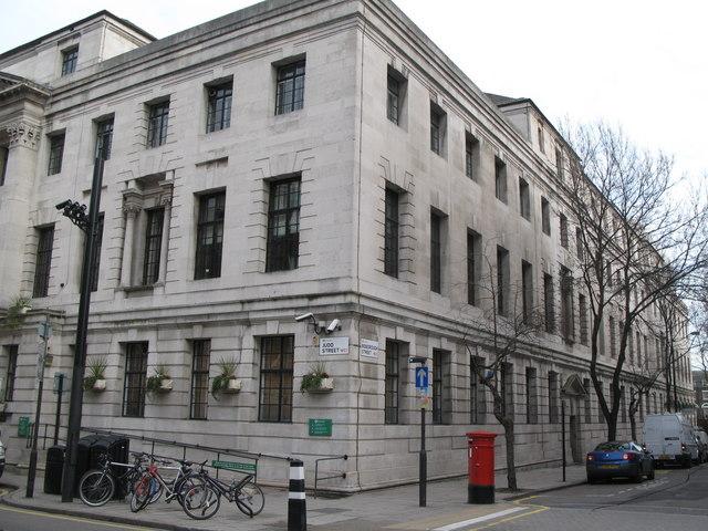 (Part of) Camden Town Hall, Judd Street / Bidborough Street, WC1