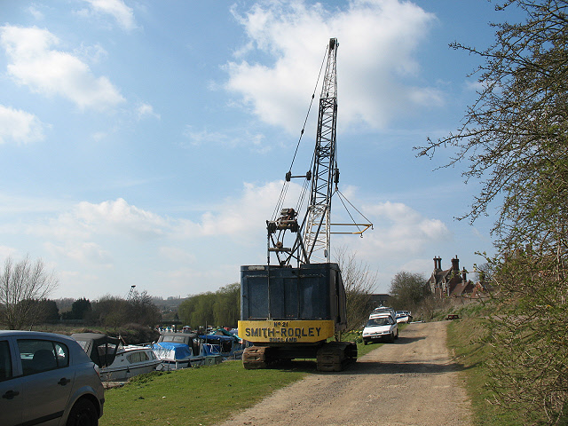 Crane at Wateringbury Marina