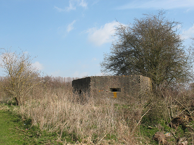 Pill box fortification on the Medway