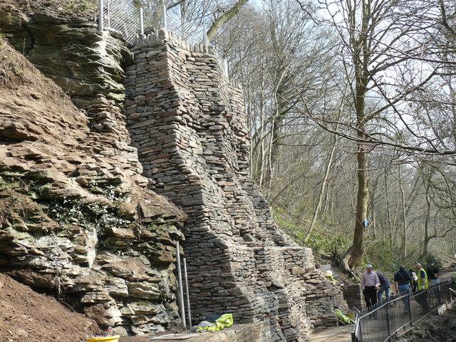 Mock drystone wall