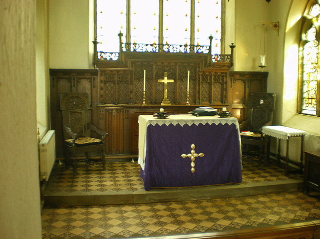 The Parish Church of All Saints, Pendleton, Altar