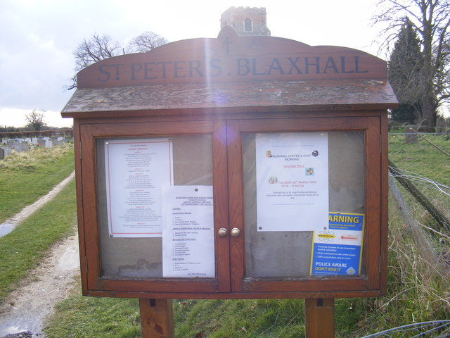 Notice Board of St.Peter's Church, Blaxhall