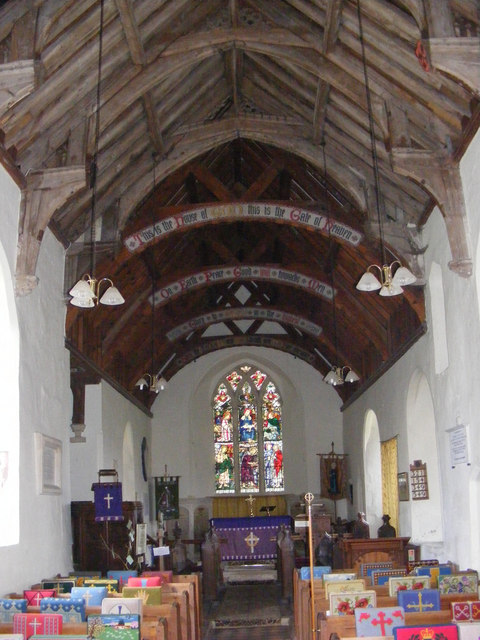 The  interior of St.Peter's Church, Blaxhall