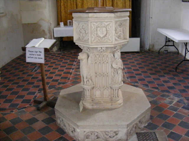 The Font of St.Peter's Church, Blaxhall