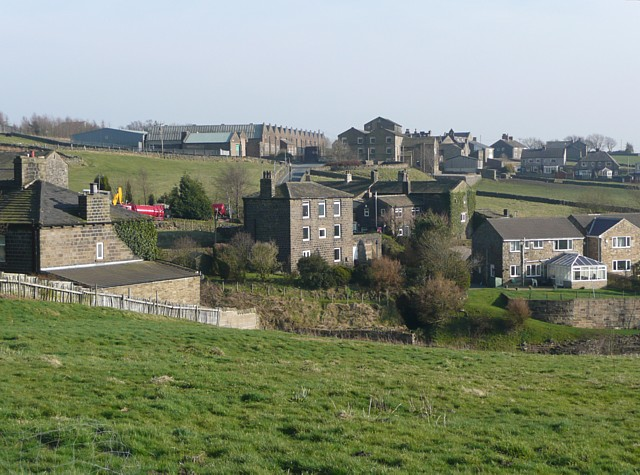 View of Wainstalls from the moor, Warley