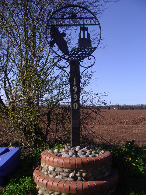 The village sign, Ridlington