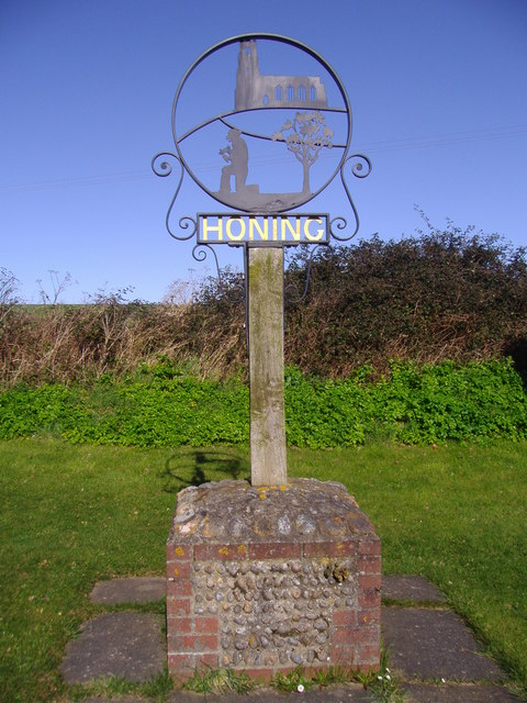 The Village sign, Honing