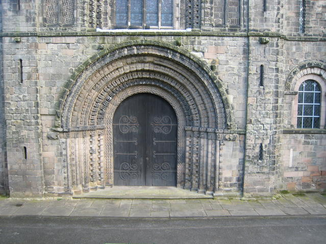 West doorway, Tutbury Church