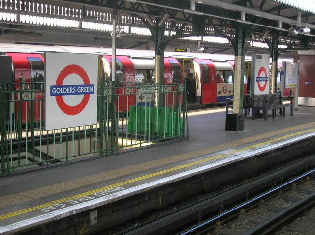 Golders Green Underground Station platform