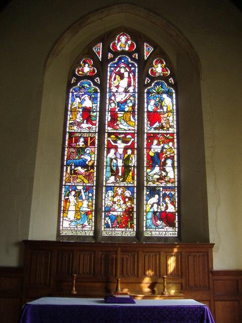 East Window in Saint Mary's church, Northrepps