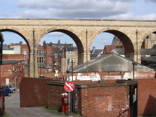 Mansfield - Viaduct from Midworth Street