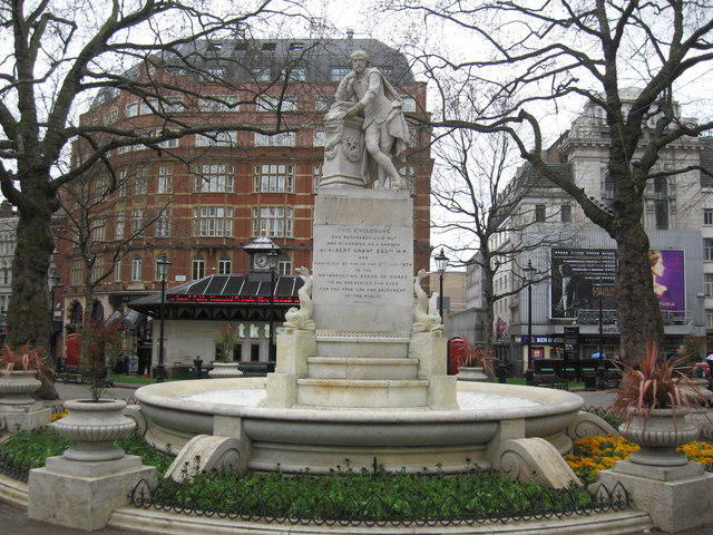 near to City of London, Great Britain. Statue of William Shakespeare