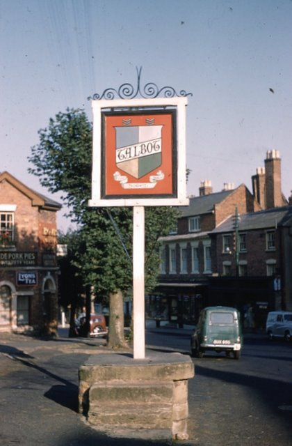 The sign for The Talbot public house