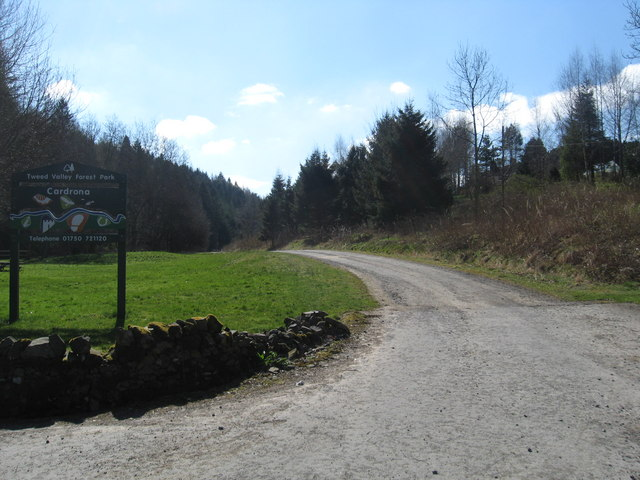 Forestry trail at Kirkburn