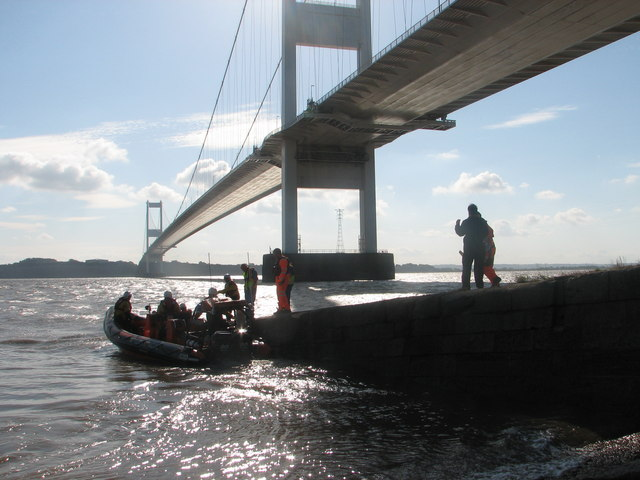 The SARA lifeboat at Beachley slip
