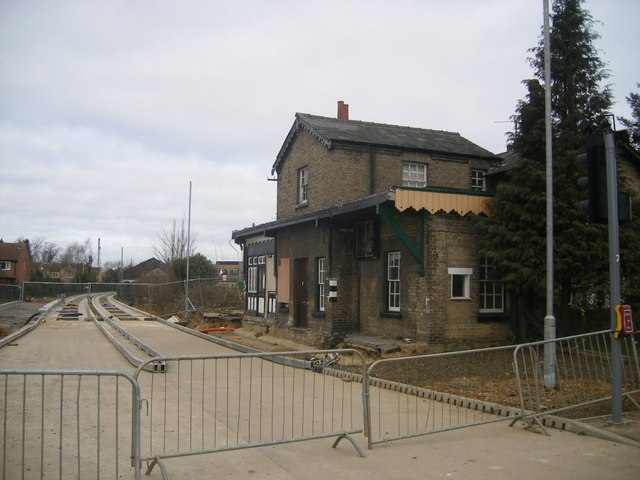 Histon station and guided busway