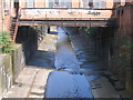 SP0786 : River Rea From Moseley Street, Digbeth. by Roy Hughes