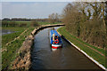 SJ6050 : Canal boat on the Shropshire Union, near Baddiley by Espresso Addict