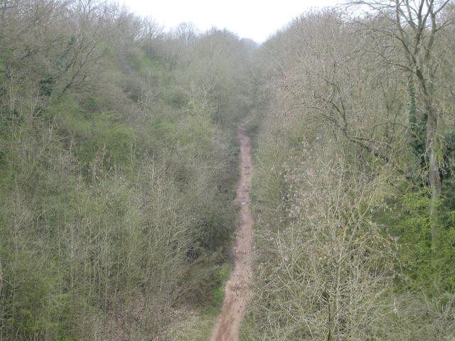 Route of former Leamington Spa - Rugby line