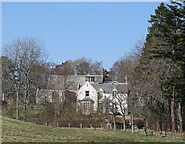 NJ4339 : Glass Kirk and Manse by Anne Burgess