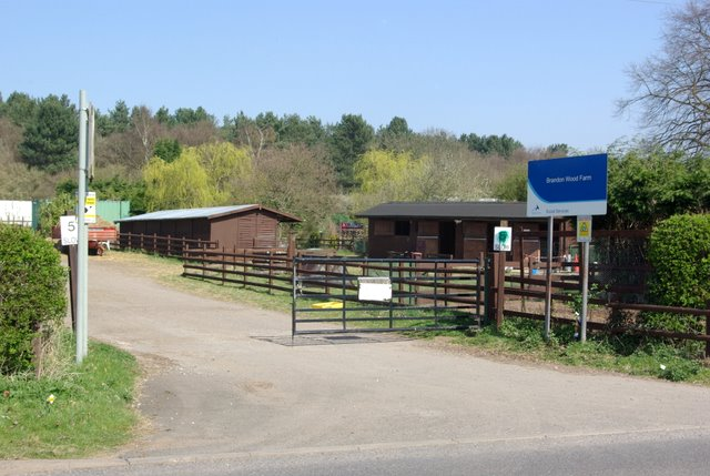 The entrance to Brandon Wood Farm