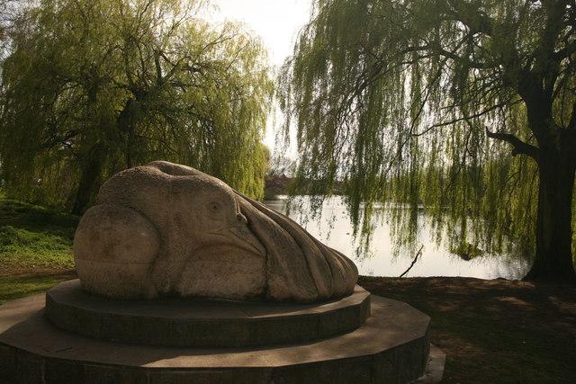Sculpture of bird