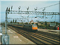 SJ7055 : Southbound express approaching Crewe North Junction by Stephen Craven