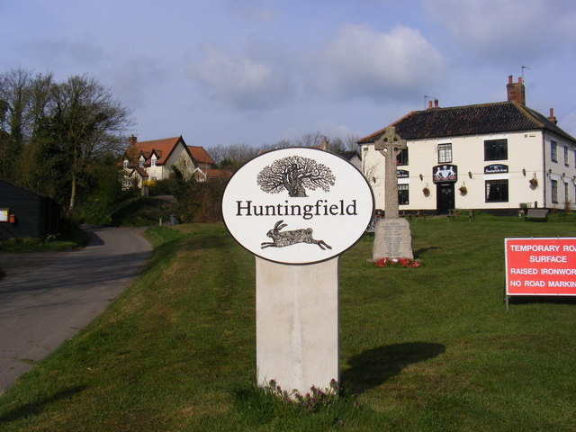 Huntingfield Village Sign