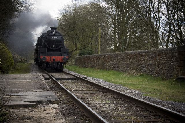45407 approaching Summerseat Station