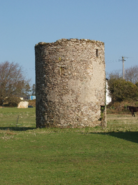 Ruin of windmill near Mullanour