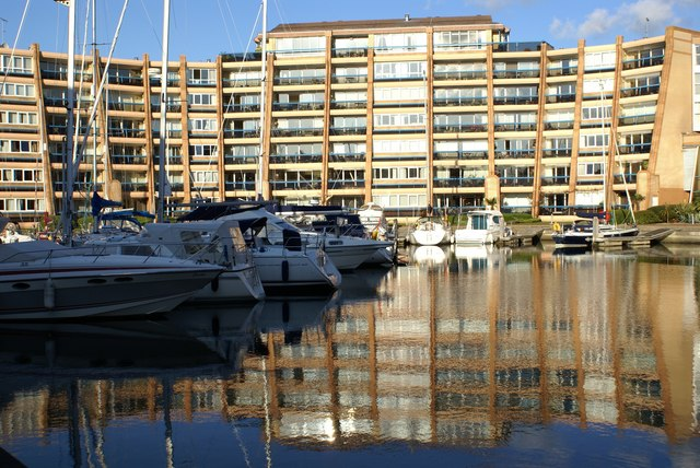 Sunlight and Reflections  at Port Solent