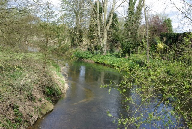 The river Sowe upstream of Stoneleigh