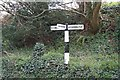 TQ0818 : Sign post at the junction by Bill Nicholls