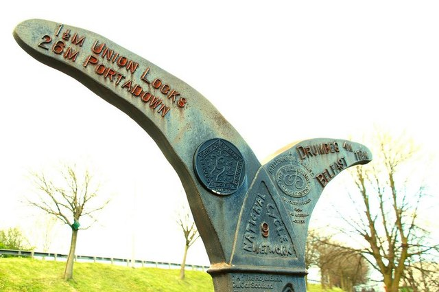 National Cycle Network sign, Lisburn (2)