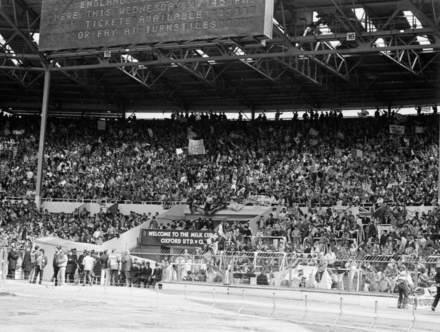 The Tunnel End at the old Wembley Stadium