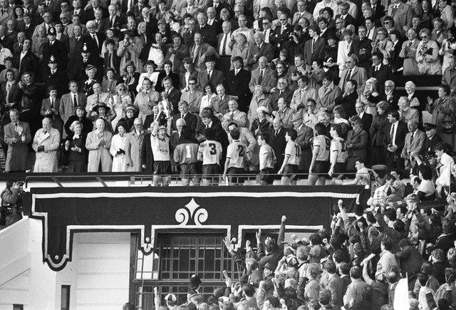 The Royal Box at Wembley Stadium 1986