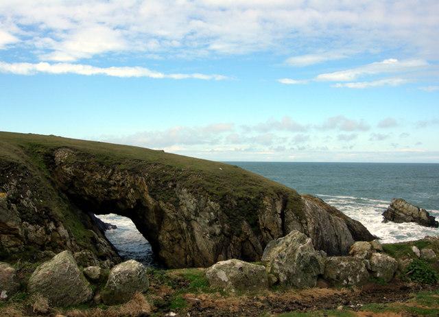 Natural sea arch