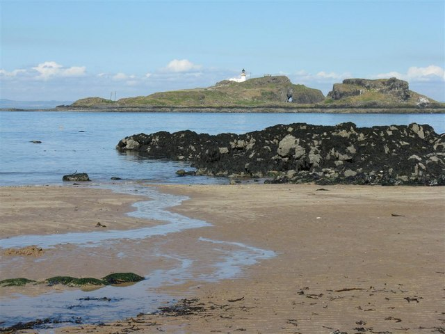Fidra from the shore at Yellowcraig