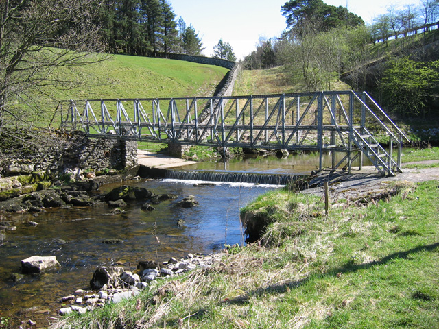 Footbridge and ford, Scandal Beck