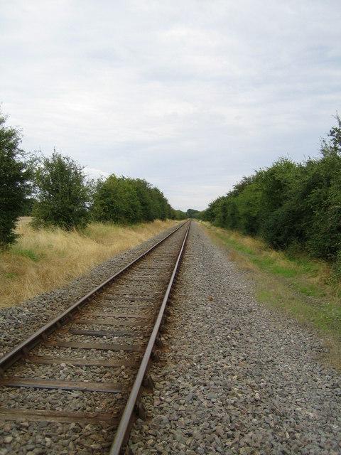 Railway line near Railway Cottage