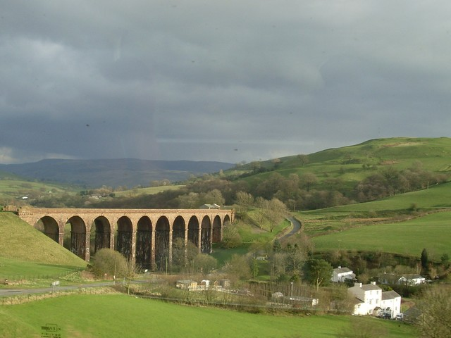 Lowgill Viaduct from Glasgow-bound train